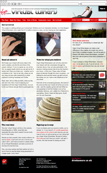 Virgin Virtual Wineries Get Involved Page