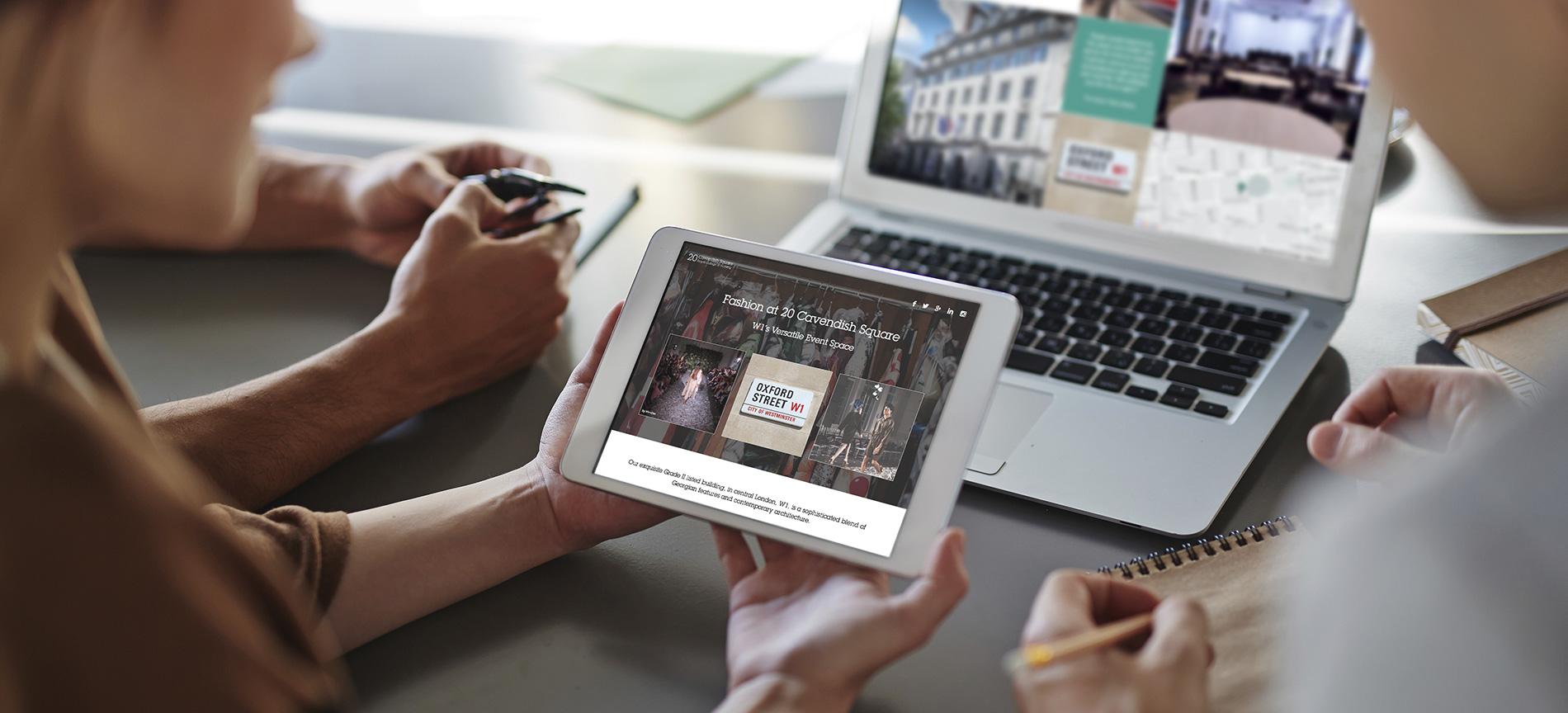 The Fashion Campaign landing page on the 20 Cavendish Square website - desktop