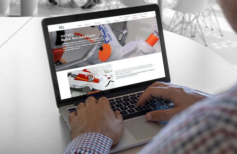 IDC website product page on a laptop - mobile