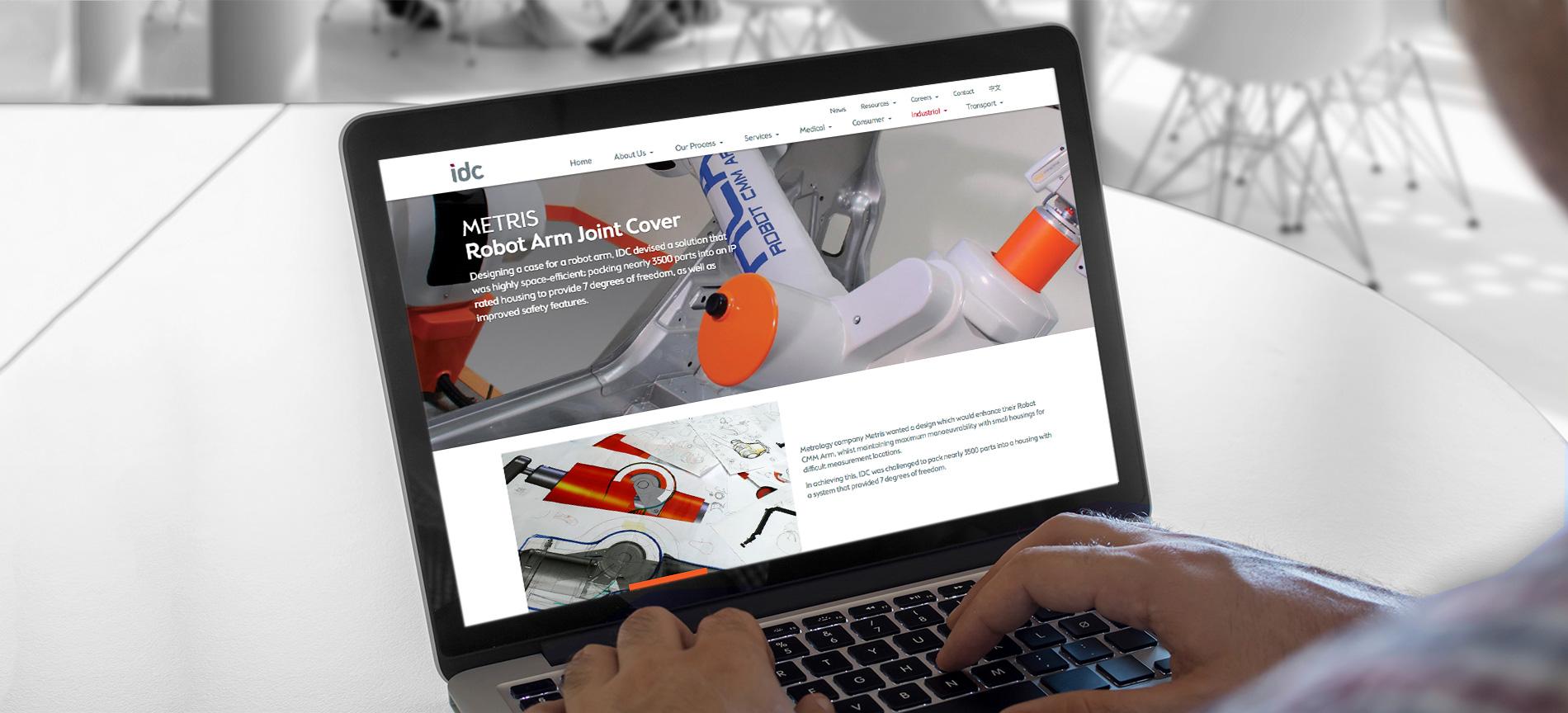 IDC website product page on a laptop - desktop