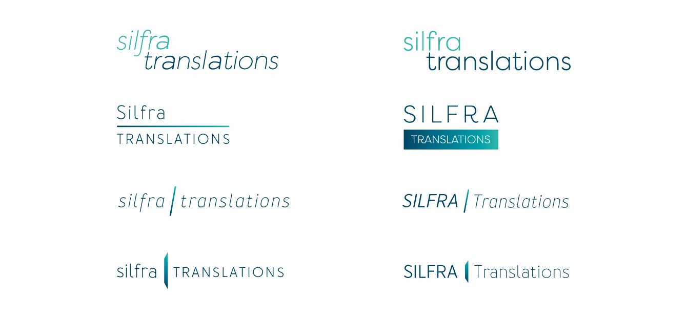 Silfra Translations logo concepts - desktop