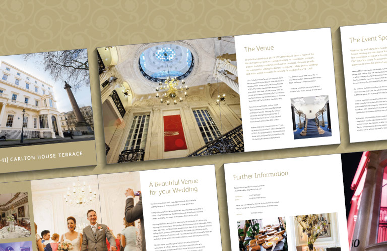 The 10-11 Carlton House Terrace wedding brochure - mobile