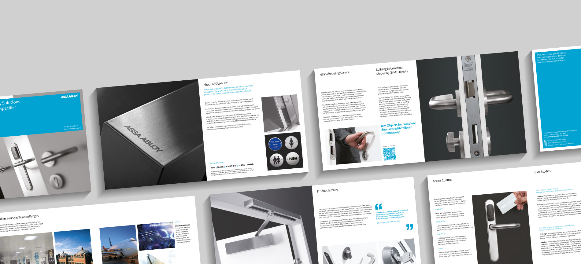 ASSA ABLOY brochure spreads - desktop