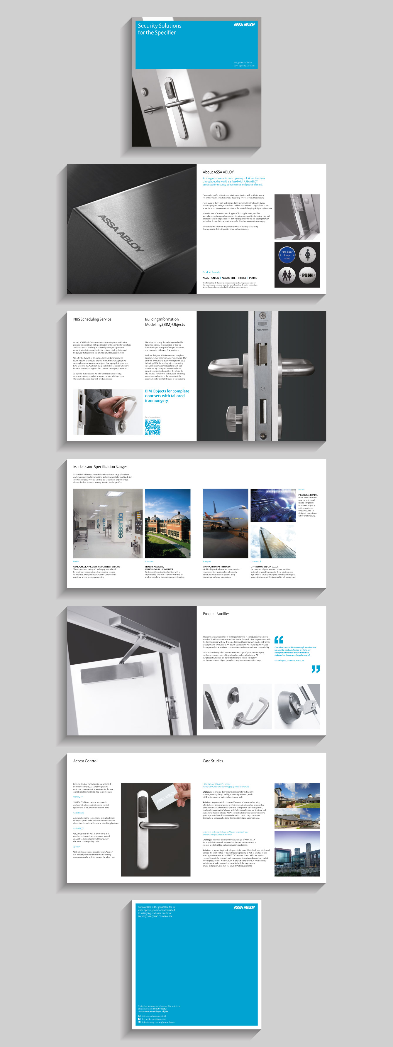 Pages from the ASSA ABLOY brochure - desktop
