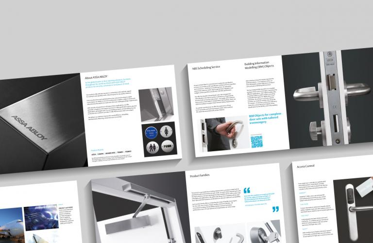 ASSA ABLOY brochure spreads - mobile