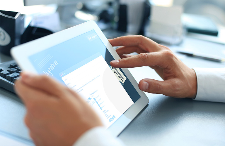 Editing an email signature on an iPad - mobile