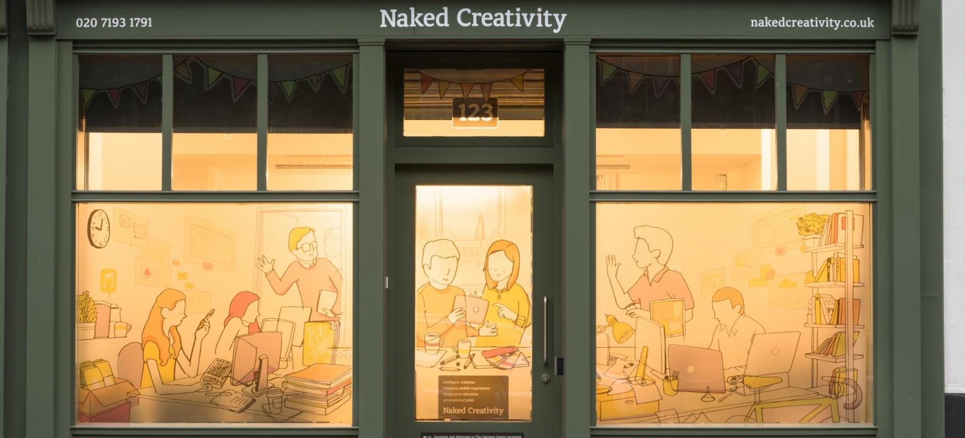 Naked Creativity studio exterior - desktop