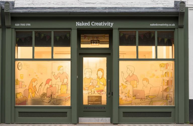 Naked Creativity studio exterior - mobile