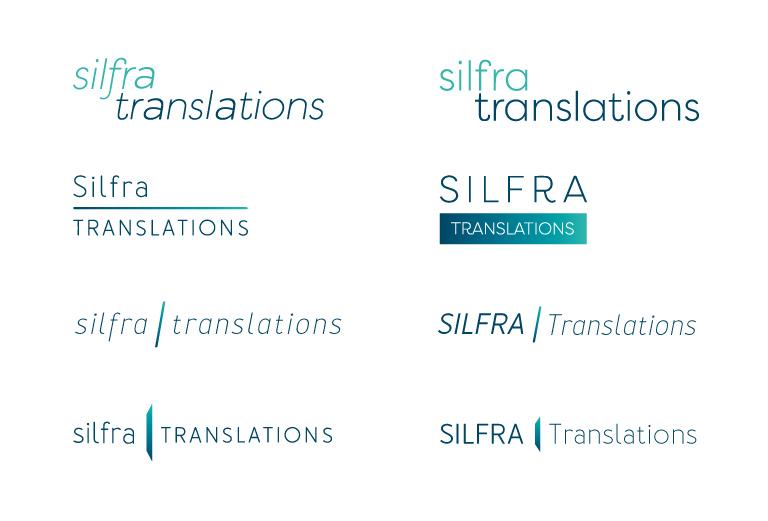 Silfra Translations logo concepts - mobile