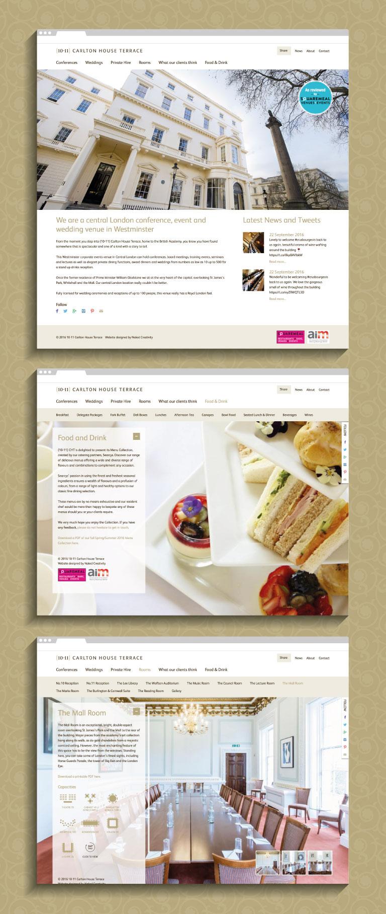 The 10-11 Carlton House Terrace website - mobile