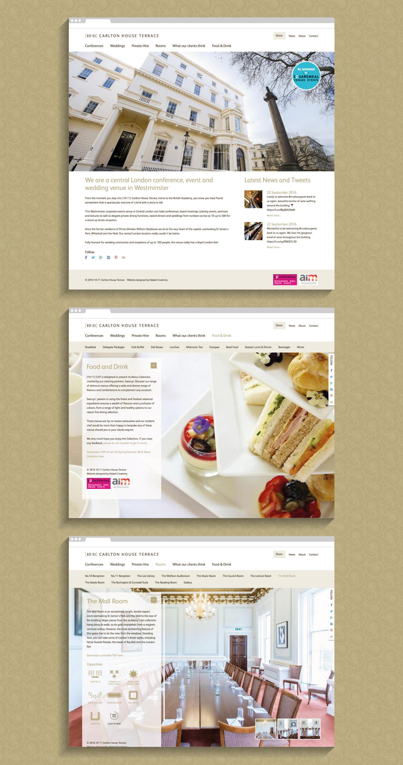 The 10-11 Carlton House Terrace website - desktop