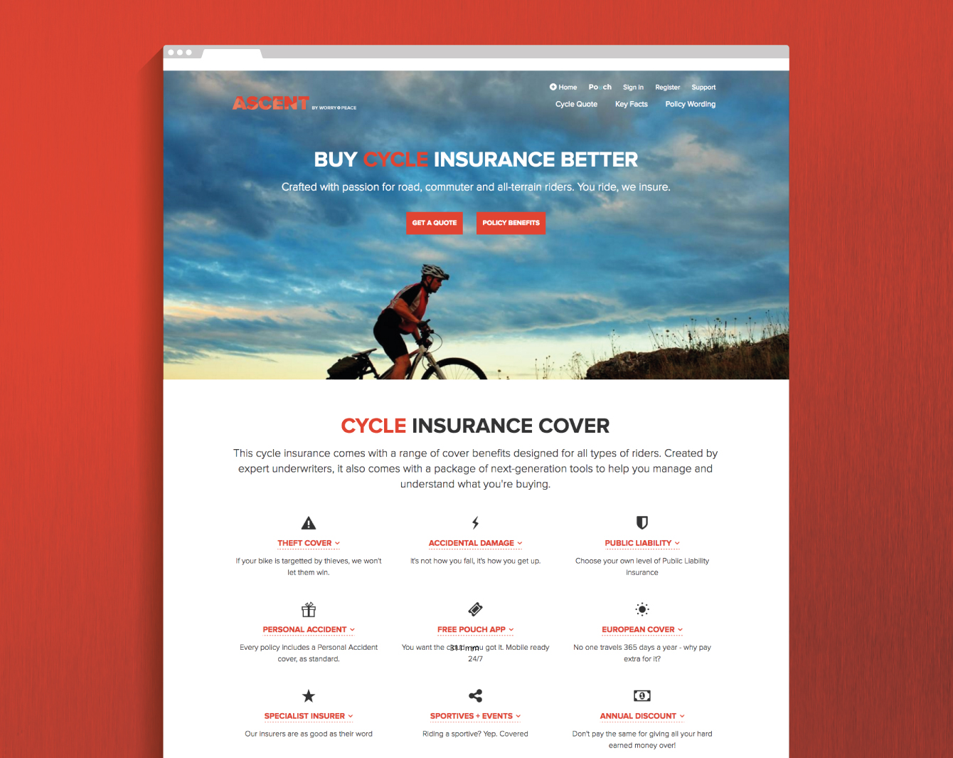 The Ascent marketing website - desktop