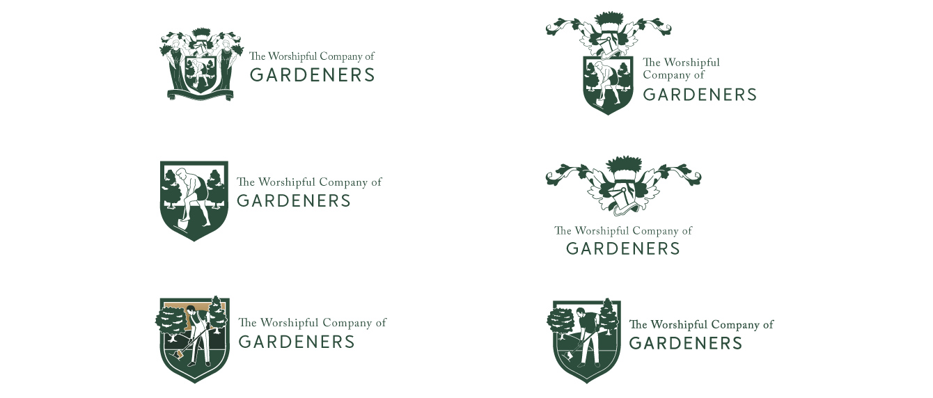 Logo concepts for the Worshipful Company of Gardeners - desktop