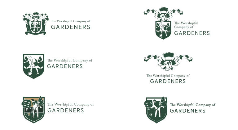 Logo concepts for the Worshipful Company of Gardeners - mobile