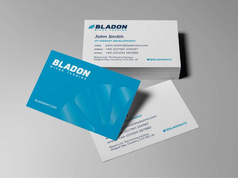 Bladon business cards - mobile