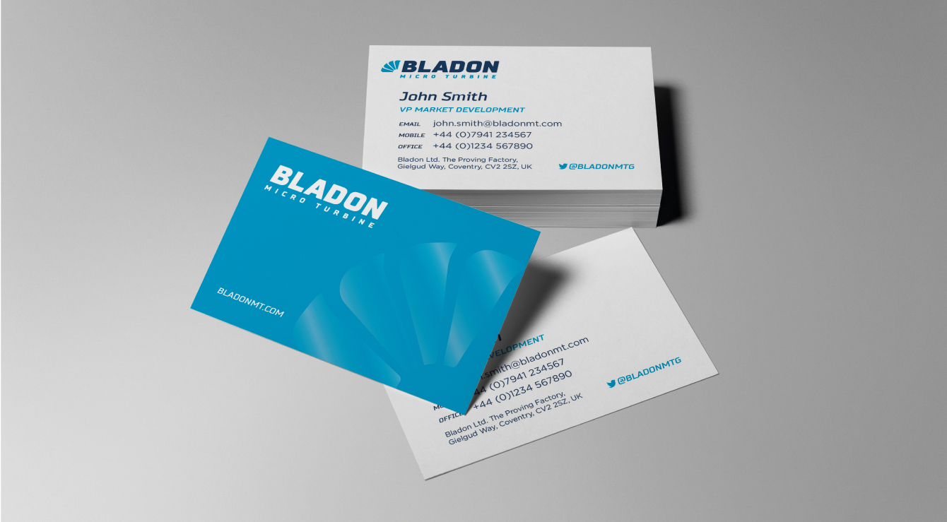 Bladon business cards - desktop