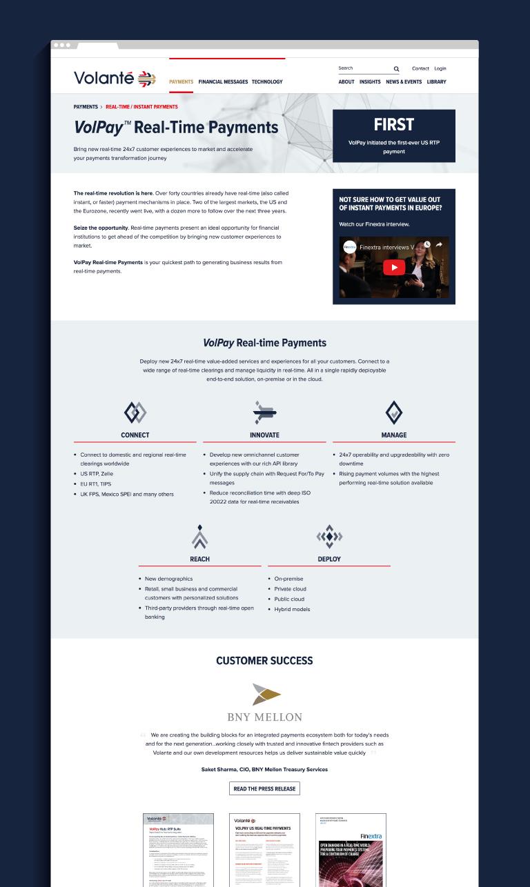 Volante website - mobile