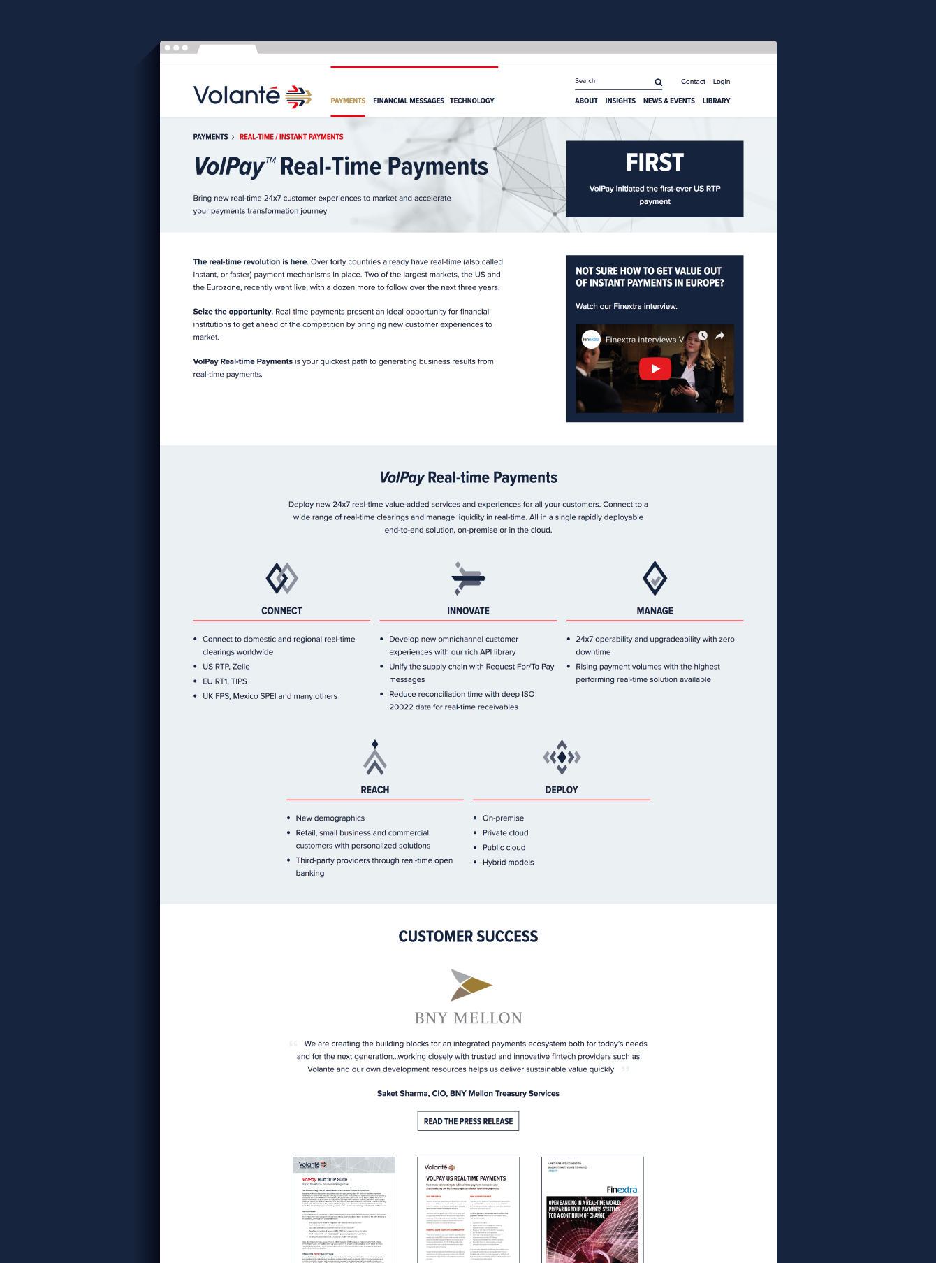 Volante website - desktop