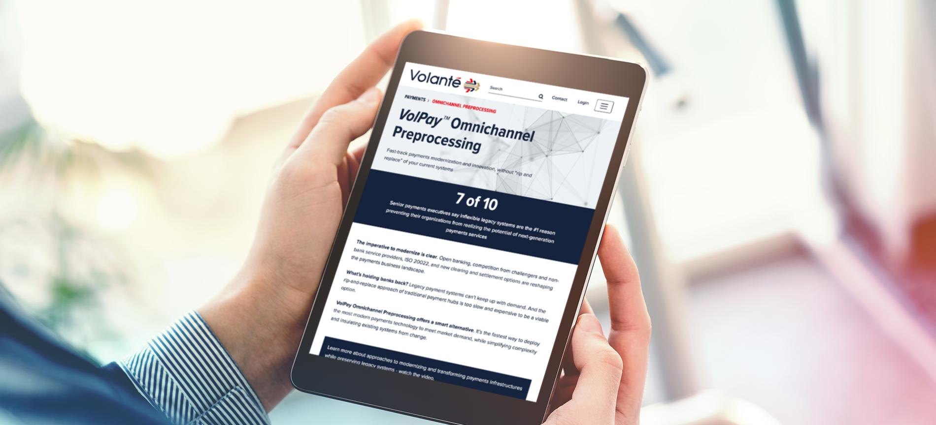 Volante – Refined visual identity, website design and