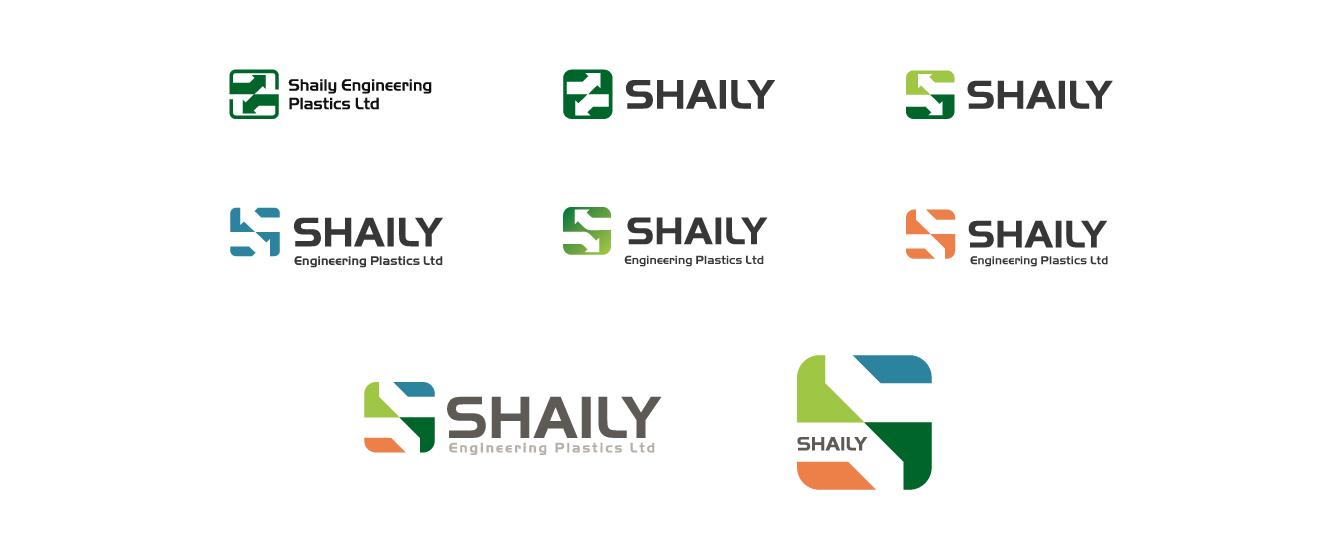 Shaily logo development - desktop