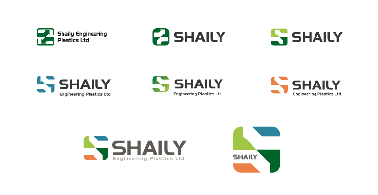Shaily logo development - mobile