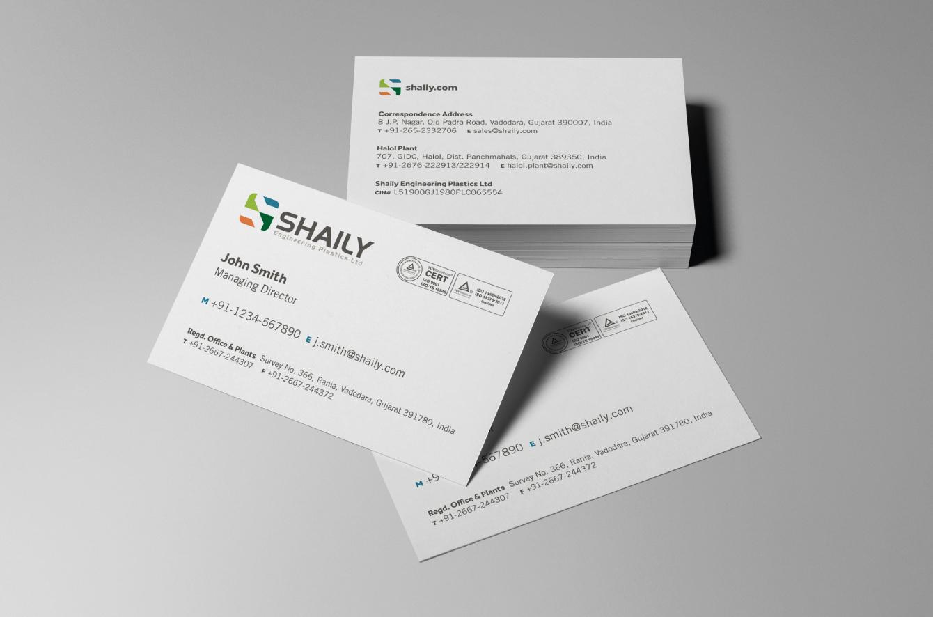 Shaily business cards - desktop