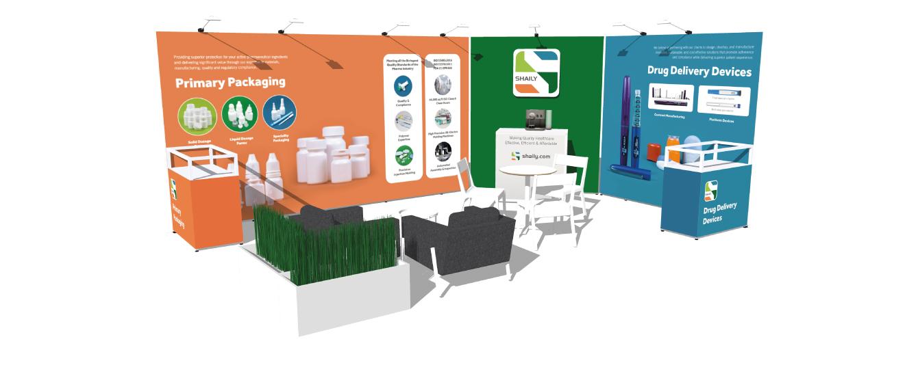 Shaily exhibition stand - desktop