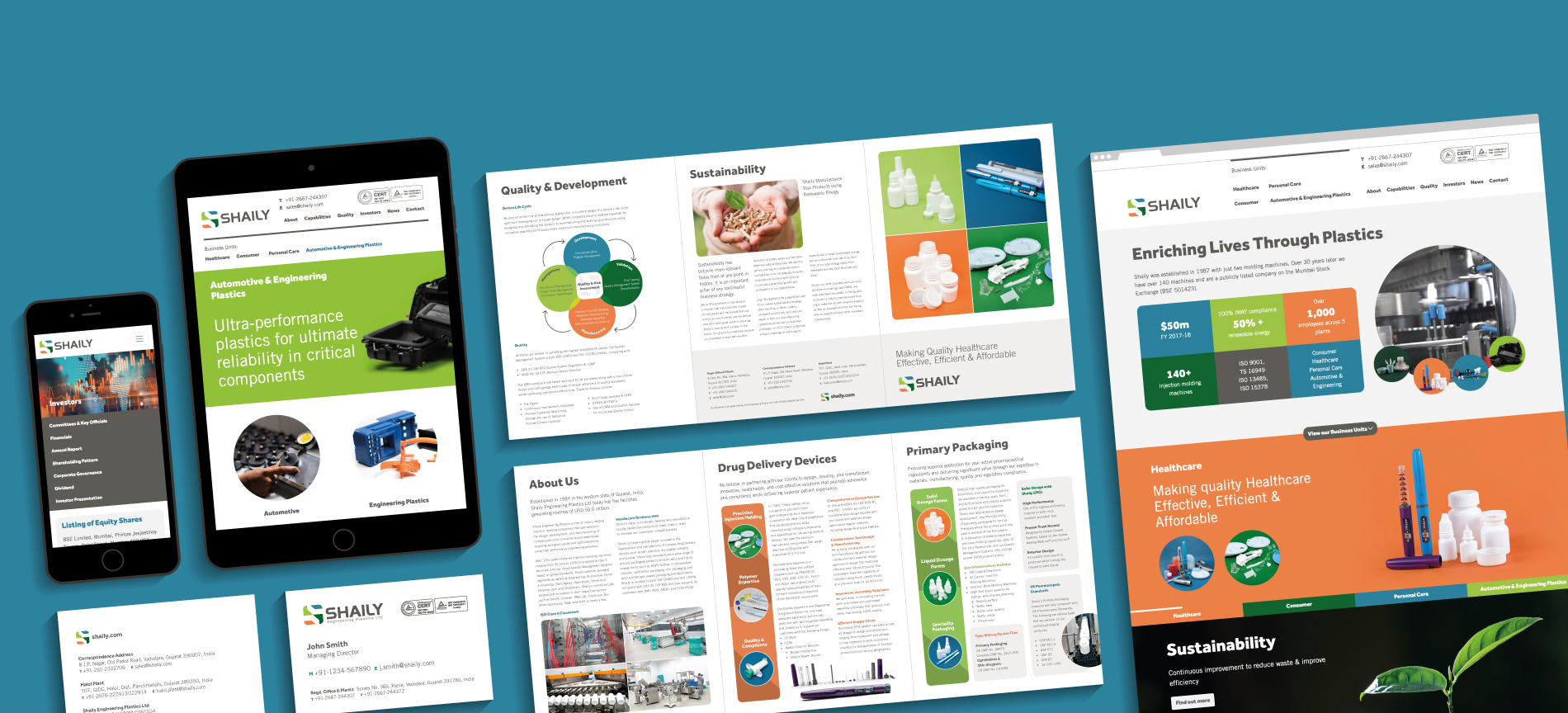 Shaily project images - desktop