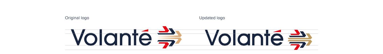Volante logo alignment work - desktop