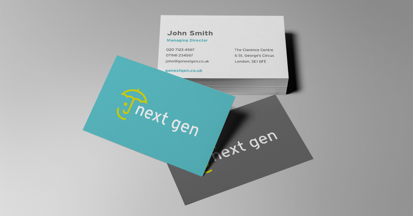 Next Gen business cards - desktop