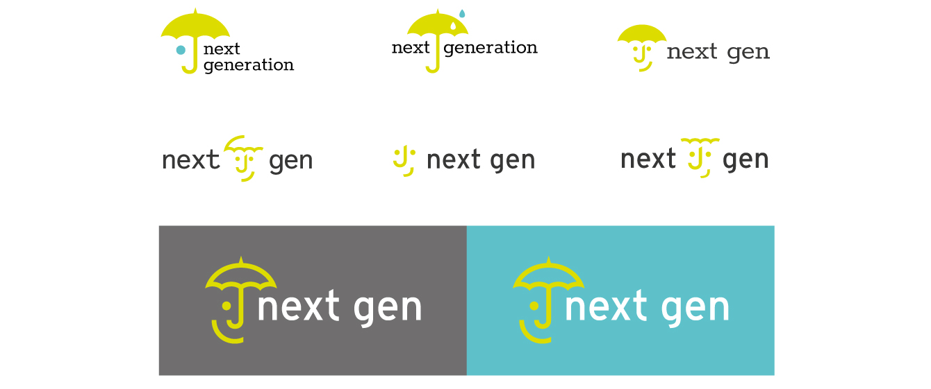 Next Gen logo concepts - desktop