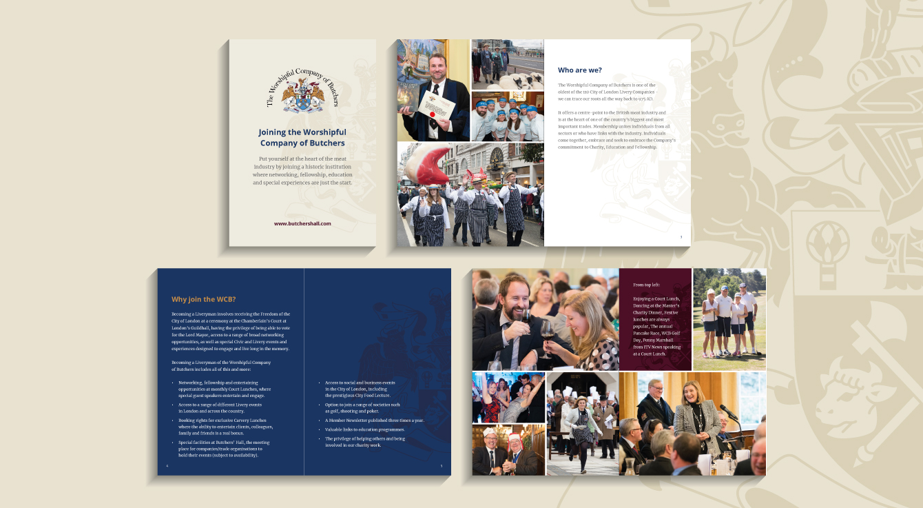 The Worshipful Company of Butchers A5 booklet - desktop