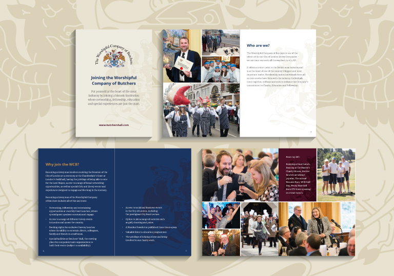 The Worshipful Company of Butchers A5 booklet - mobile