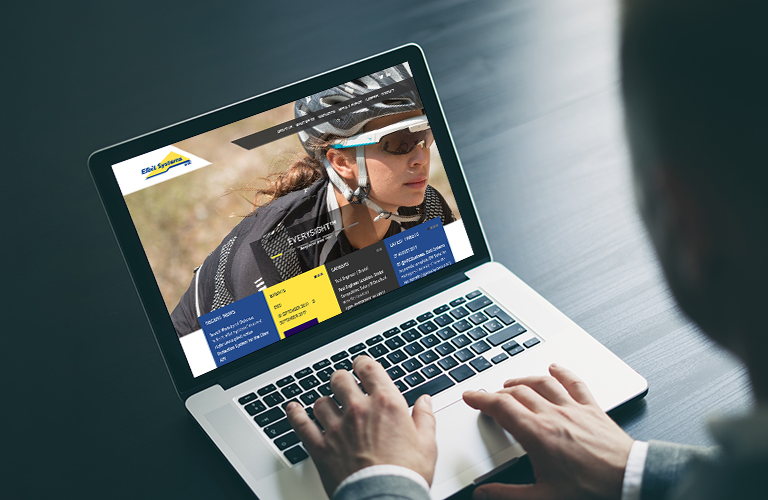 The Elbit Systems UK website on a laptop - mobile