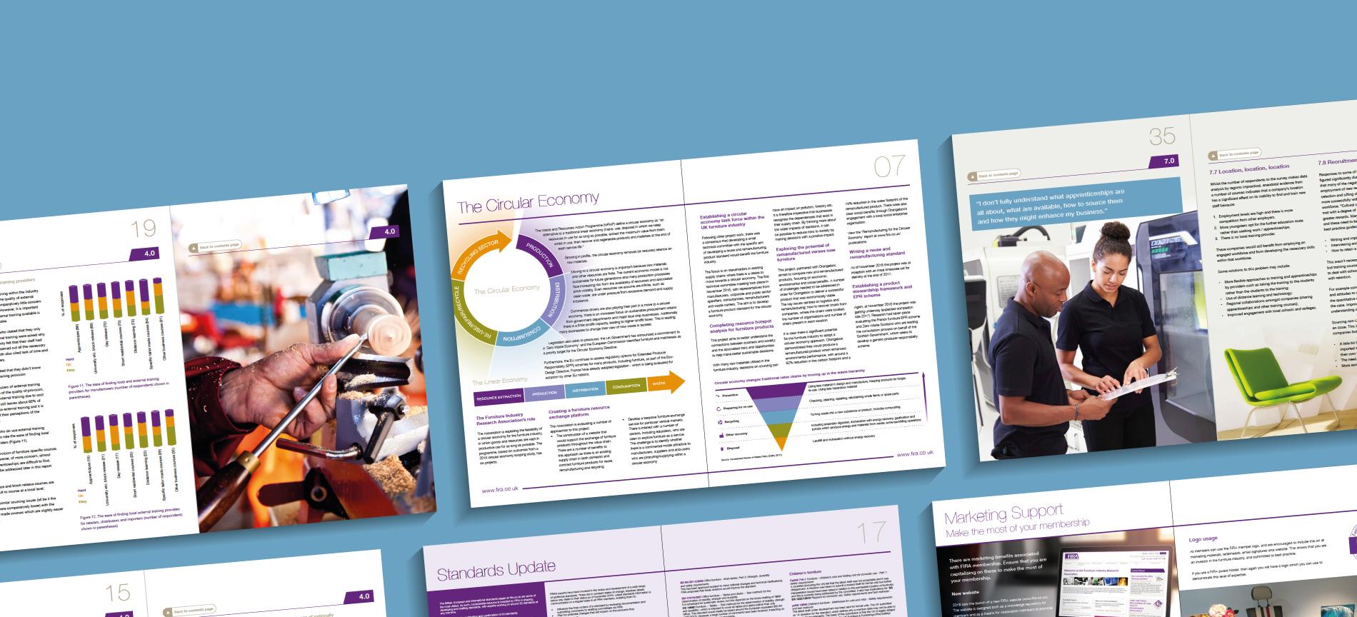 FIRA case study images on a blue background - desktop