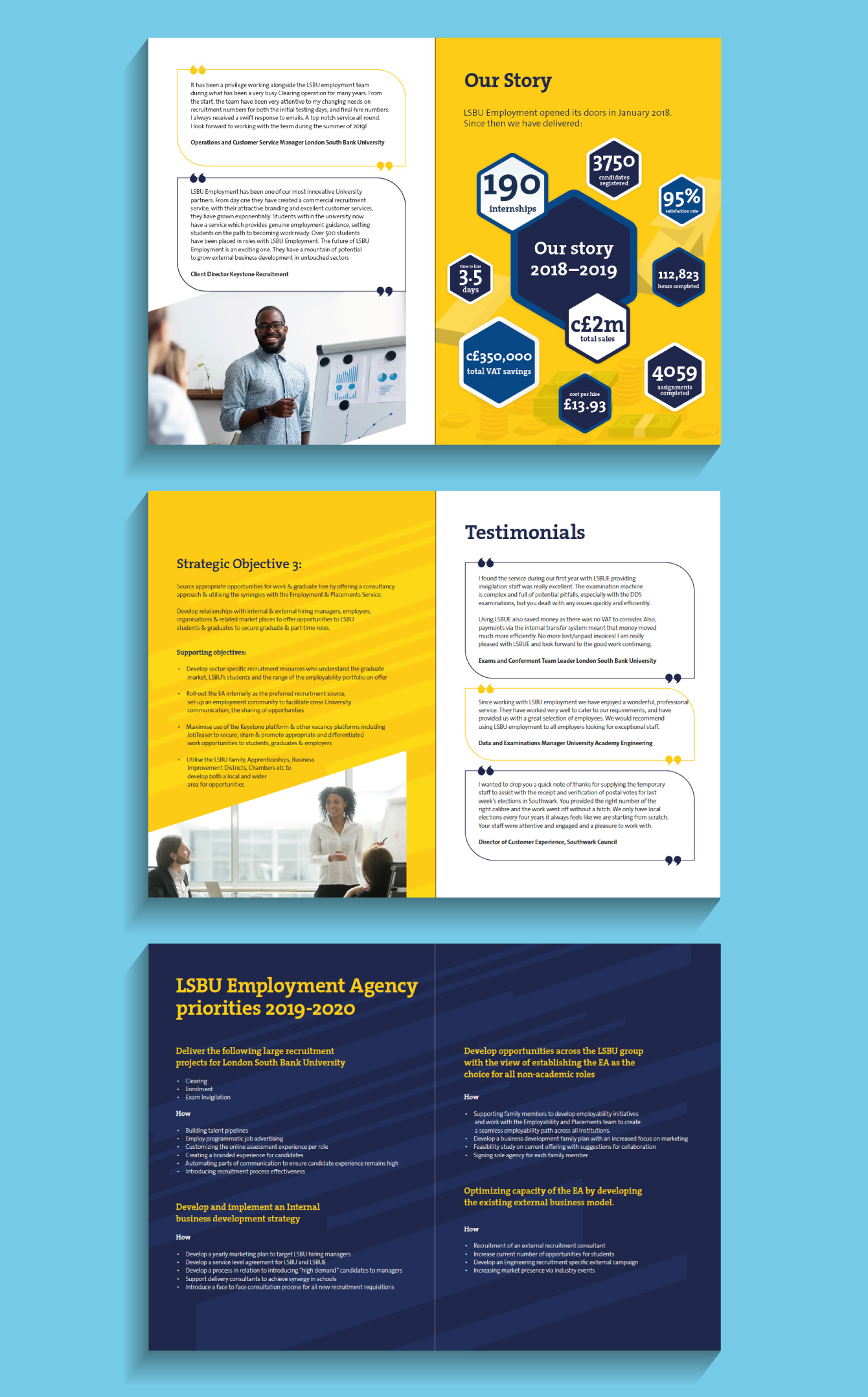 London South Bank University Case study pages - desktop