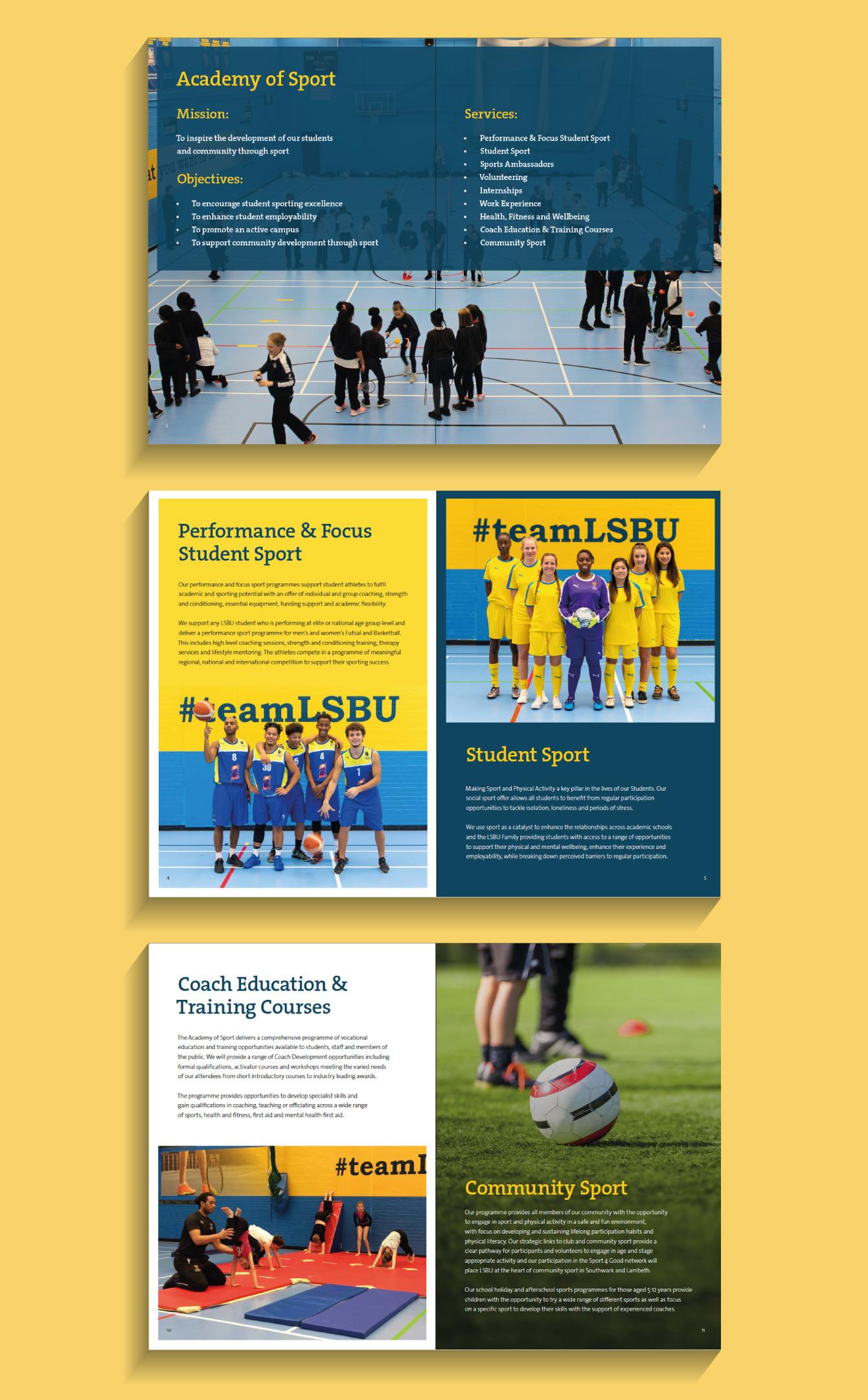 London South Bank University Case study pages - desktop